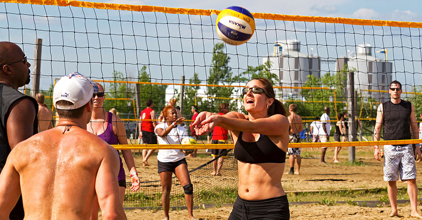 Volleybal at CHEO BBQ